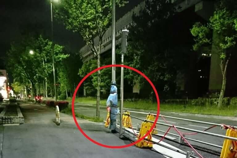 【東大阪市】夜道にカッパを着て立っている人影!?その真相は驚きの○○でした!!!